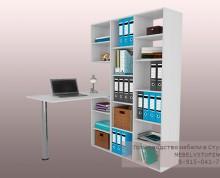 Набор мебели: компьютерный стол и стеллажи в Ступино