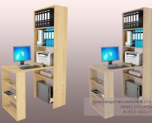 Мебель для кабинета в Ступино: компьютерный стол и стеллажи
