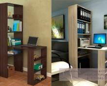 Мебель для кабинета: компьютерный стол и стеллажи